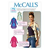 McCall Pattern Company M7055 Misses' Vest and Cardigans Sewing Template, ZZ (LRG-XLG-XXL)