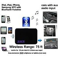 BMR Bluetooth Adapter For Cars with AUX Audio Input Like Mercedes, BMW, Subaru, Nissan, Honda, Mitsubishi .....