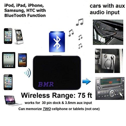 Nissan Aux Input (BMR Bluetooth Adapter For Cars with AUX Audio Input Like Mercedes, BMW, Subaru, Nissan, Honda, Mitsubishi .....)