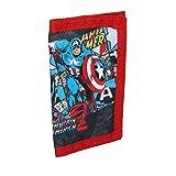 Marvel Comics Captain America Kids Velcro Tri Fold Nylon Wallet
