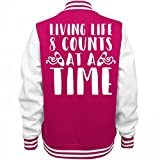 Customized Girl 8 Count Dance Jacket: Ladies Fleece Letterman Varsity Jacket