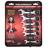 Gearwrench 7 Piece SAE Stubby Combination Ratcheting Wrench Set 3/8''-3/4''
