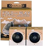 OrigAudio Fold n Play Recycled Speakers for iPod, iPhone, and Any Standard 3.5mm Jack (Daydream)