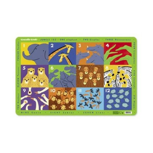 Crocodile Creek Placemat Jungle 123