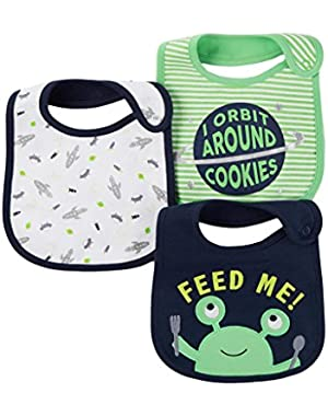 Carter's Just One You Baby Boys' 3 Pack Bib Set