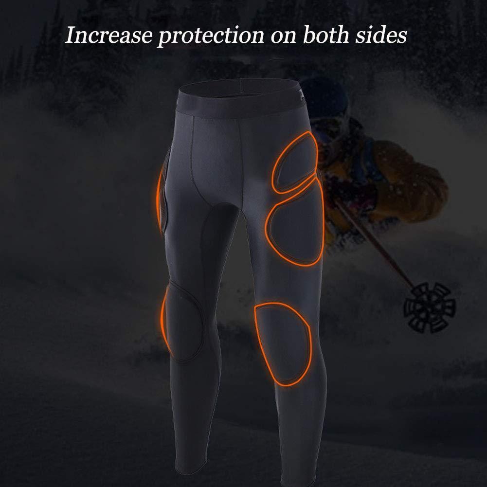 TZTED Pantalones Acolchados Hip Pad Protector Rodilleras Anti-Ca/ída De Una Pieza para Esqu/í Patinaje Snowboard Y Otros Deportes