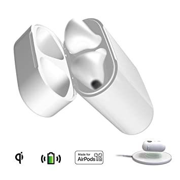 Recambio de Estuche de Carga Inalámbrica Compatible con AirPods 1&2 (Solo Funda de Cargador, AirPods no incluidos, No Emparejamiento Bluetooth), ...