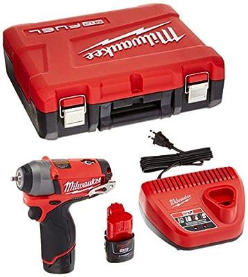 Milwaukee 2452-22 M12 Fuel 1/4 Impact Wrench Kit W/2 Bat