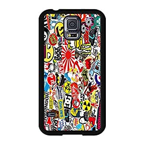 Samsung Galaxy S5 I9600 Case Cover Shell Hybrid Colorful Pattern Personalized Sticker Bomb Phone Case Cover Colorful Hot