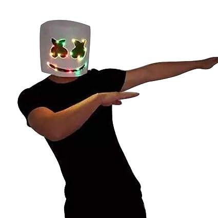 zhaokai DJ Marshmallow LED Light Mask Látex Máscara de ...