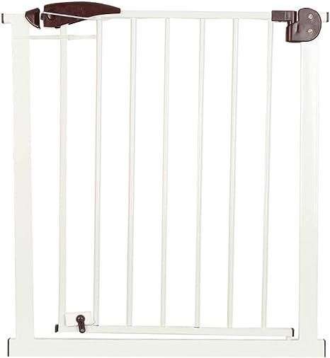 Puerta de la escalera, puerta de seguridad, cerca del animal doméstico, barandilla de la puerta de aislamiento, perforación libre cerca de la puerta de seguridad interior, barrera de escaleras para: Amazon.es: Bebé