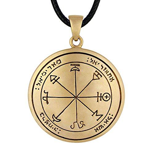 Seal Amulet Pendant - Moonlight Mysteries Bronze First Pentacle of Mars Key of Solomon Pendant Talisman Necklace