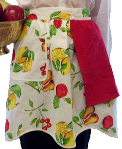 american-hostess-handy-dandy-removable-towel-apron-fruit-pattern