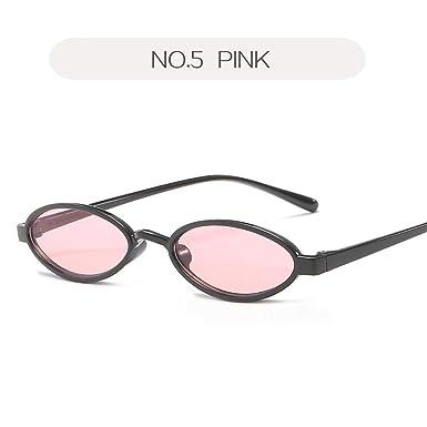 d10c582d27 Image Unavailable. Image not available for. Color  ZLYZ Sunglasses Small  Oval Sunglasses Men Retro Brand Designer Round Sun Glasses Female ...