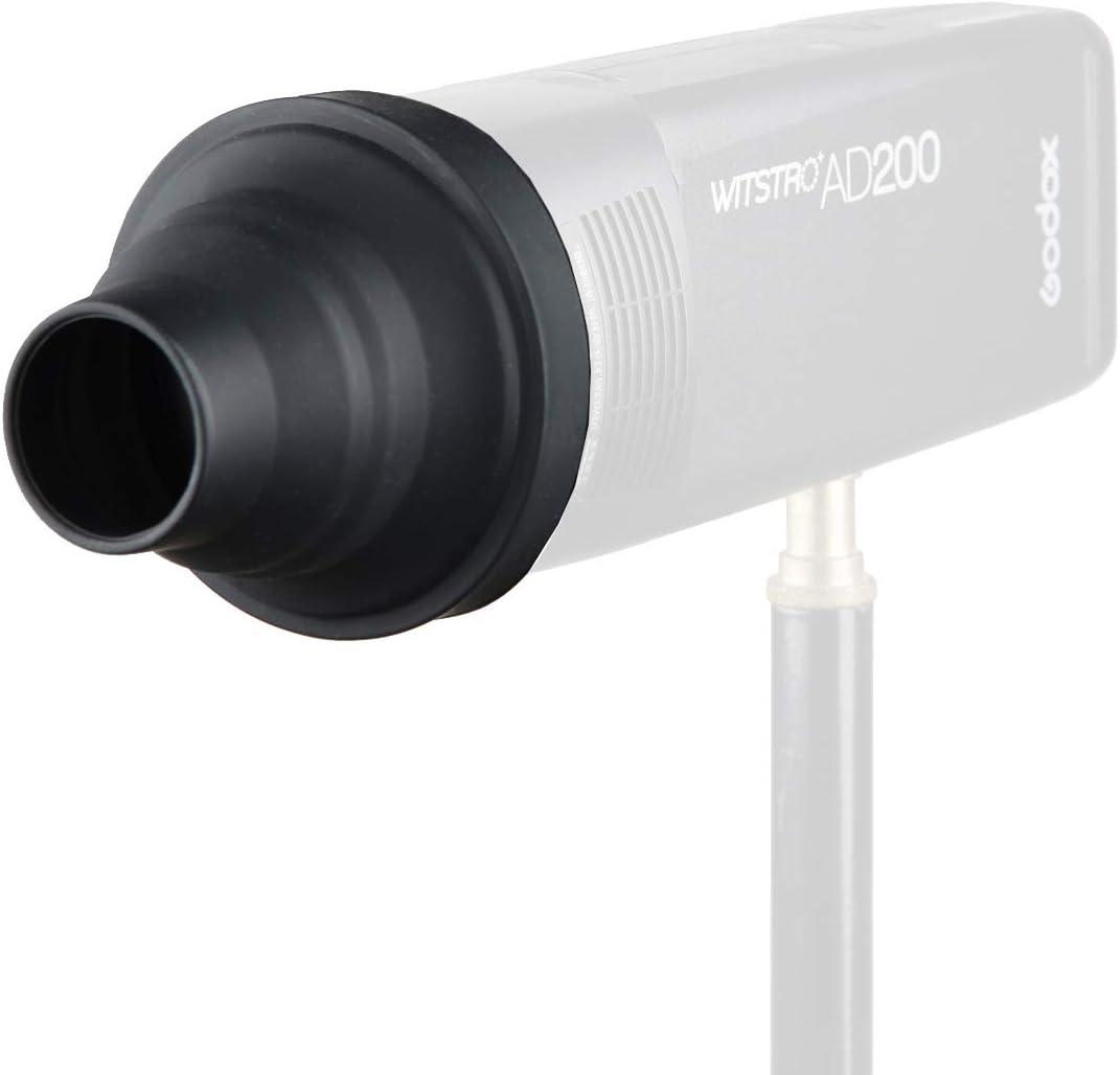 Compatible for Godox V1 Flash Series,V1-S V1-N V1-C Flash Godox AK-R17 Snoot use Godox H200R Round Flash Head Compatible for AD200 Pro AD200