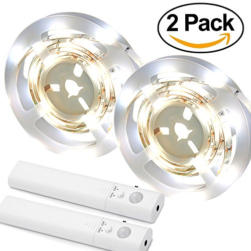 Side Mount Wall Cabinet - Amagle LED Dual Mode Motion Night Light, Flexible LED Strip with Motion Sensor Closet Light for Bedroom Cabinet 3000K (Warm White,2 pack)
