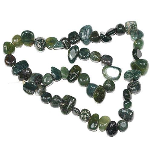 Freeform Pendant Teardrop (AAA Natural Moss Agate Gemstones Smooth Teardrop Loose Beads Free-form ~18x10mm beads ( ~16