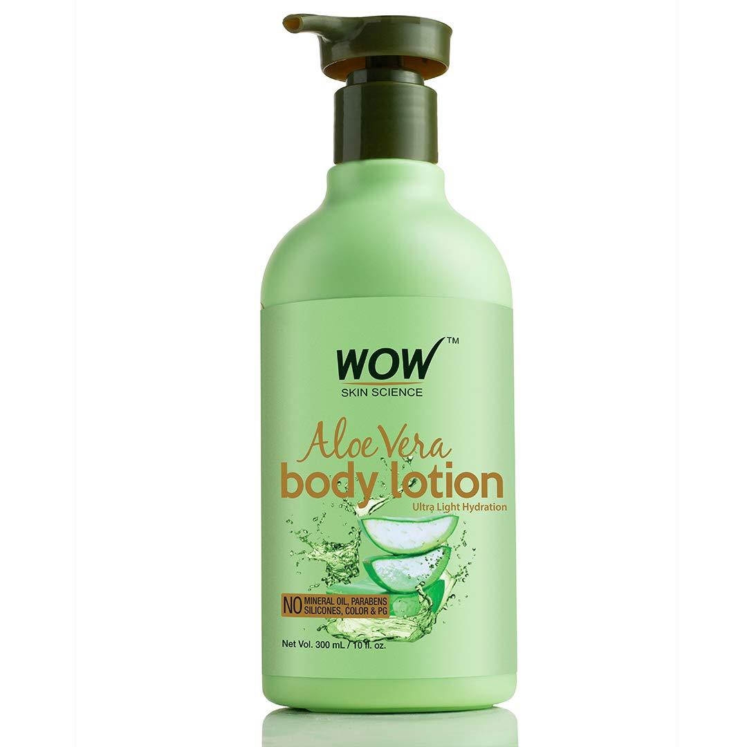 Amazon.com : WOW Aloe Vera Body Lotion - Ultra Light Hydration ...