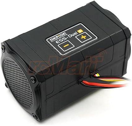 SENSE INNOVATIONS ESS Dual Plus Simulador de Sonido de Motor Real para Axial SCX10 SCX10 II Wraith Traxxas TRX-4 #ESS Dual