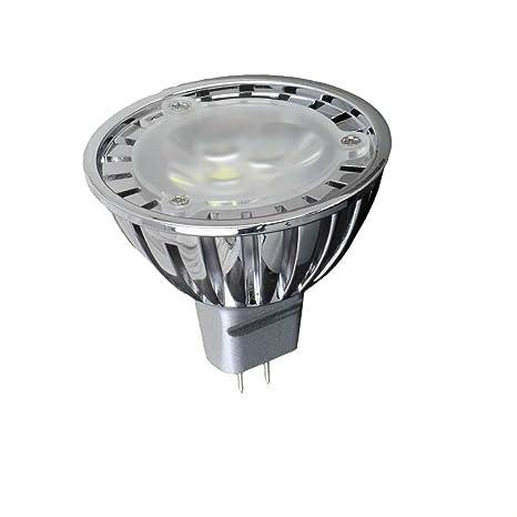 hitlight regulable blanco frío (6000 K) bombilla LED MR16 de 3 W, equivalente