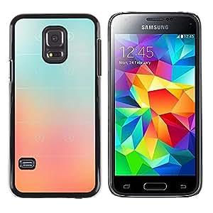 Be Good Phone Accessory // Dura Cáscara cubierta Protectora Caso Carcasa Funda de Protección para Samsung Galaxy S5 Mini, SM-G800, NOT S5 REGULAR! // Glass Peach Pink Stripes Color