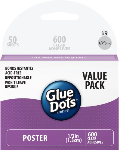 Glue Dots Poster Sheets Value Pack