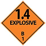DL44AP National Marker Dot Shipping Labels, 1.4 Explosives 8, 4 Inches x 4 Inches, Ps Vinyl, 25/pk (Pack of 25)