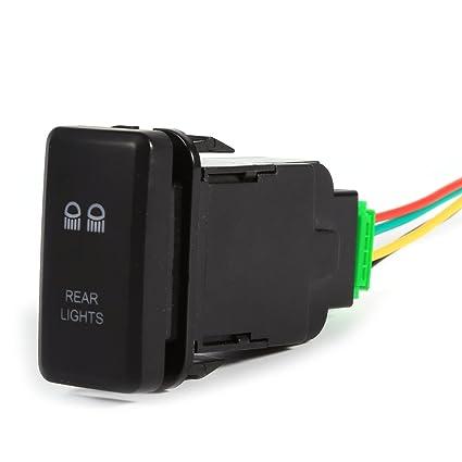Amazon Com 5 Pin Car Rocker Push Switch Rear Light 12v On