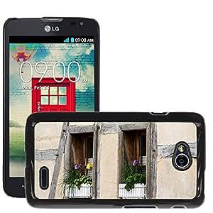 Hot Style Cell Phone PC Hard Case Cover // M00168938 Window Truss Fachwerkhaus Home // LG Optimus L70 MS323