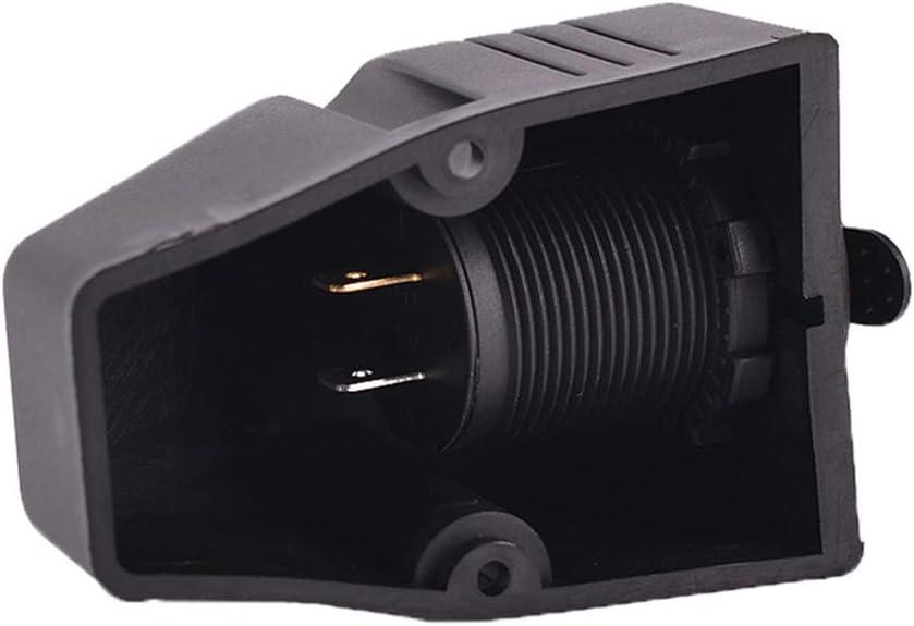 Toma de corriente port/átil Cargador a prueba de agua 12V Durable Dual B Adaptador de montaje en superficie universal Enchufe del coche Accesorio negro