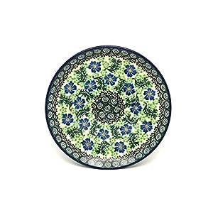 Polish Pottery Plate – Salad/Dessert (7 3/4″) – Sweet Violet