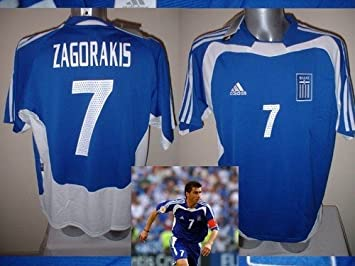 Image Unavailable. Image not available for. Colour  Greece Greek Adidas  BNWT THEO ZAGORAKIS Shirt Jersey Football Soccer Adult ... f562f1362