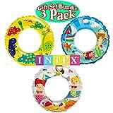 Intex Ocean Reef Transparent Swim Rings Dinosaurs,Mermaid Andbeach Gift Set Bundle-3 Pack
