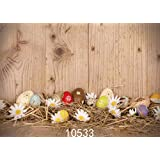 SJOLOON 7x5ft Easter Backdrops For Photography Wooden Flooring Backdrop Straw Egg Background For Photo Studio Props 10533