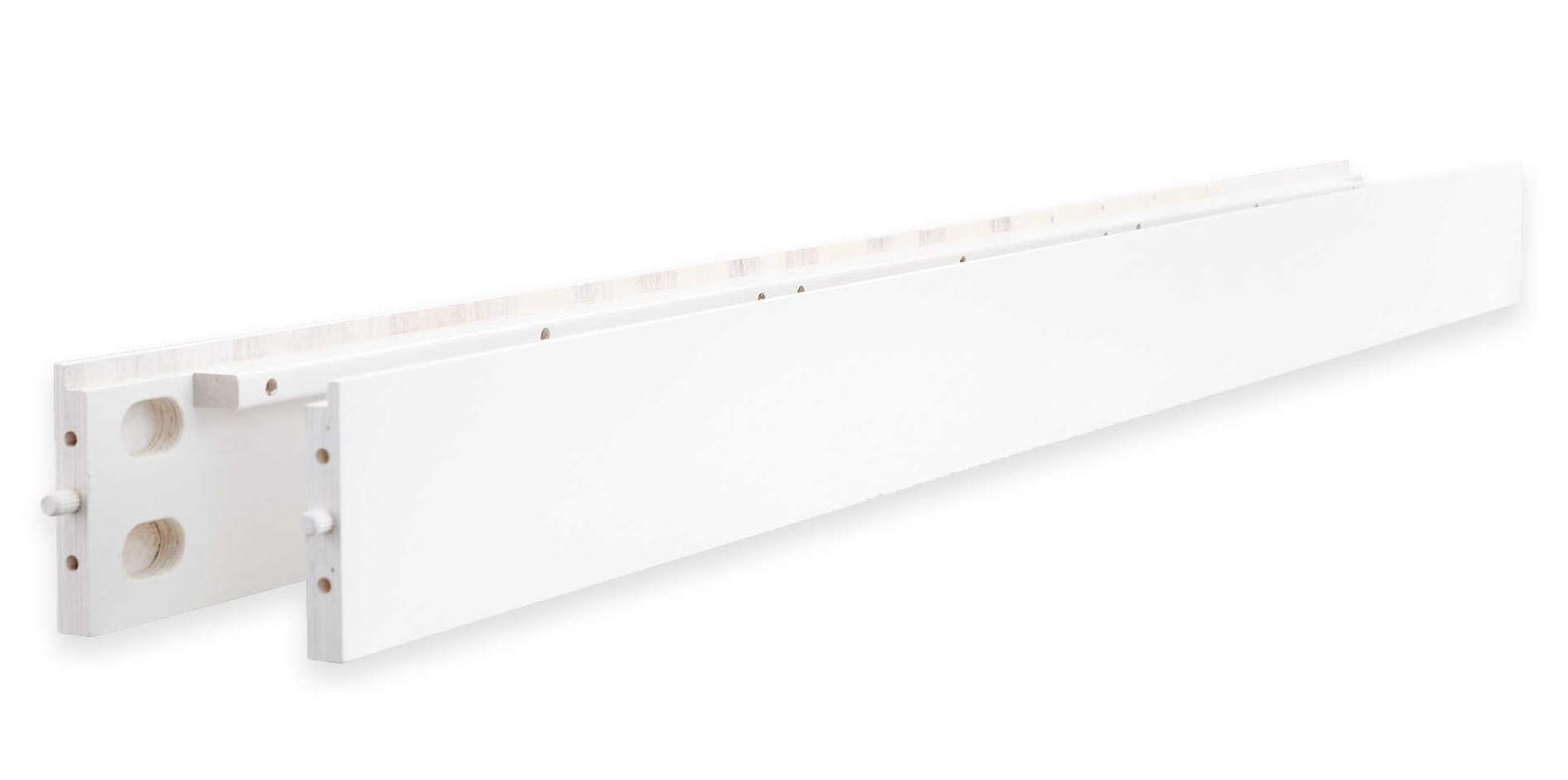 Full Size Conversion Kit Bed Rails for Baby Appleseed Beaumont, Chelmsford, Davenport, Kennedy, Millbury, Stratford Cribs (White)