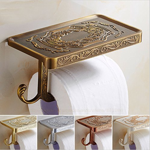 Toilet Paper Holder Modern Design By RLM Collection, Real Metal, Easy To Install, Stylesh Luxury Design