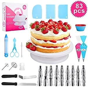 Amazon.com: 83 piezas para decoración de tartas, kit de ...