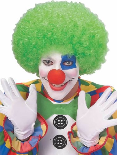 [Rubie's Costume Neon Afro Clown Wig, Green, One Size] (Neon Green Wigs)