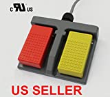 AceCrew Plastic Double Action Foot Switch Pedal Dual Foot Switch