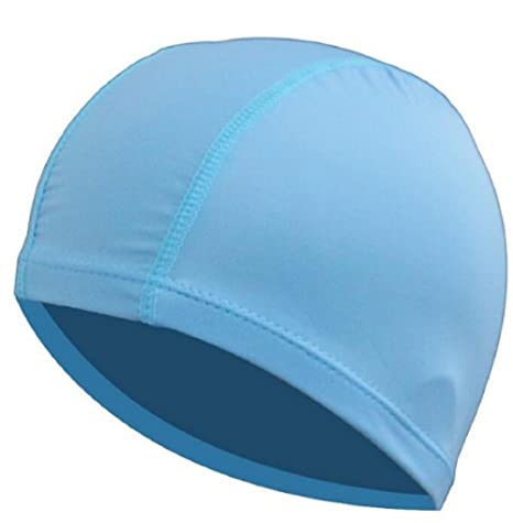 049ba14210 Nylon Fabric Swim Pool Ears Protection Swimming Cap Hat Accessories for Men  Women ( 7