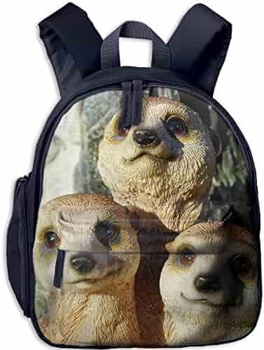 8e73992e03 Student School Bags Backpack Daypack Meerkat Super Bookbag Break For Kids  Pink