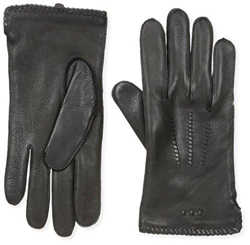 Mens John Varvatos Cashmere - John Varvatos Star U.s.a Men's 100% Deerskin Wool/cashmere Lined Whipstitch Glove, black, X-Large