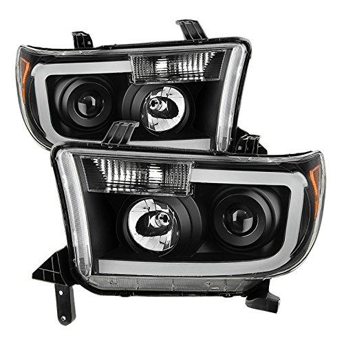 Xtune PRO-JH-TTU07-LED-BK Toyota Tundra Halo Projector Headlight
