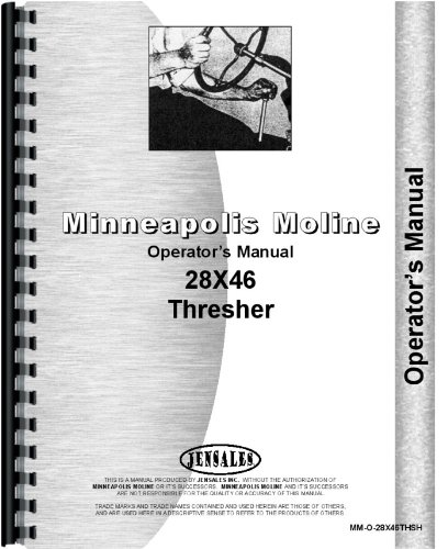 Minneapolis Moline 28X46 Thresher Operators Manual pdf