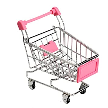 Amazon.com: Vktech Mini Shopping Cart Supermarket Handcart Shopping Utility Cart Mode Storage Toy (Yellow): Toys & Games