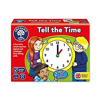 Orchard Toys Tell The Time Children's Game, Multi, One Size