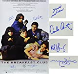 The Breakfast Club Cast Autographed/Signed The Breakfast Club 24x36 Movie Poster Estevez, Ringwald, Nelson, Sheedy - Authentic Signature
