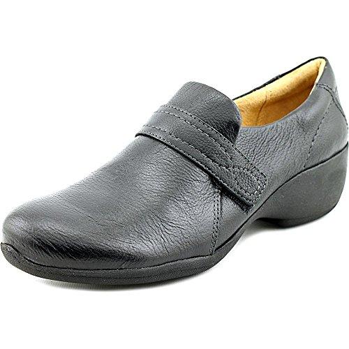 Naturalizer Womens Josefa Leather Closed Toe Clogs Black Leather