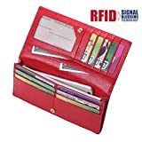Bricraft NFC RFID Blocking Wallet for Women Genuine Leather Bifold Pebbled Clutch Reviews (Free Shipping Available)