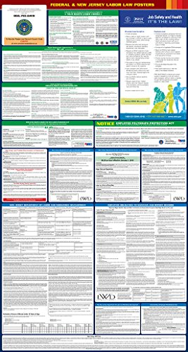 2017 New Jersey State and Federal All-in-one Labor Law Poster - English